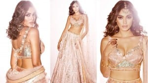 Sana Makbul Has Taken The Internet By Suprise With Her Exotic Rose Gold Lehenga | See Pics