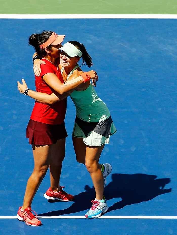 Sania Mirza and Martina Hingis clicked during US Open 2015