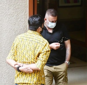 Sanjay Dutt Steps Out of Salon To Get His Hair And Beard Done, Snapped By Paps