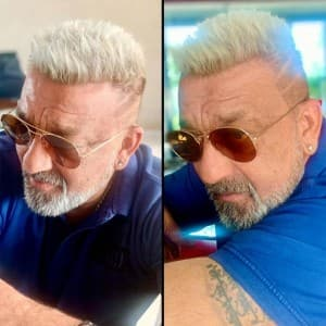 Sanjay Dutt Looks Suave in His New Blonde Hairdo, Stylist Hakim Aalim Shares Pictures