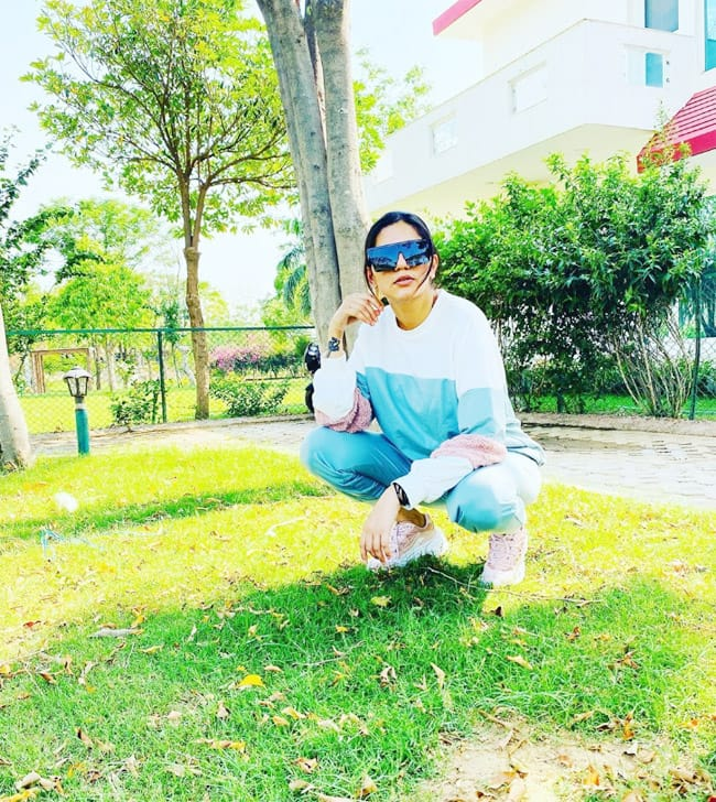 Sapna Chaudhary Swags it Up in Tracksuit And Stylish Aviators