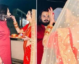 PICTURES: Haryanvi Sensation Sapna Choudhary's First Karwa Chauth Celebrations