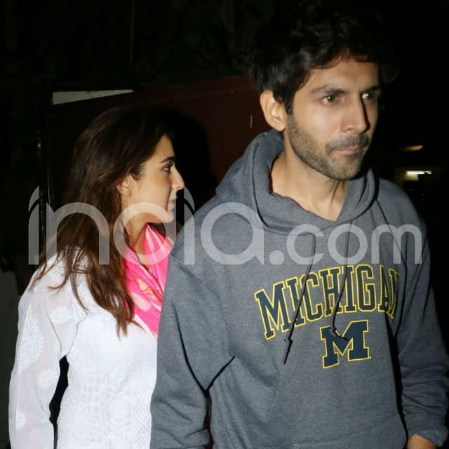 Sara Ali Khan and Kartik Aaryan clicked