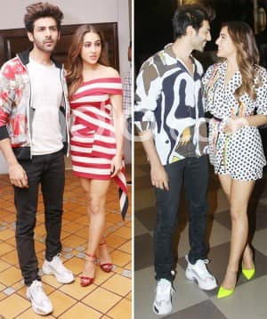 Sara Ali Khan And Kartik Aaryan Look Too Much in 'Love' as They Pose Together While Heading Out For The Promotion of 'Love Aaj Kal 2'
