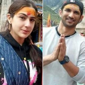 PHOTOS: Kedarnath actors Sara Ali Khan and Sushant Singh Rajput spotted at Kedarnath temple before shooting
