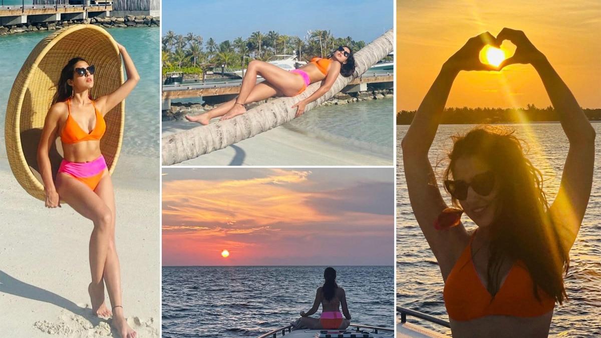 Sara Ali Khan Goes Bold In Sultry Orange Pink Bikini