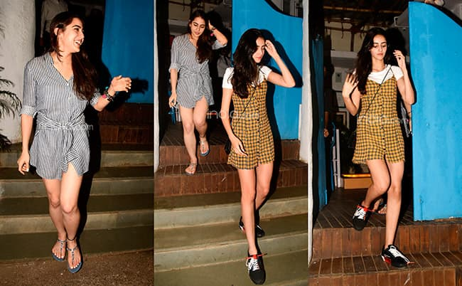 Sara Ali Khan in a t shirt dress