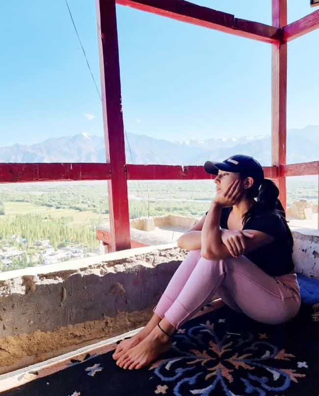 Sara Ali Khan is The Perfect Tourist as She Enjoys the Serenity of the Thikse Monastery in Ladakh
