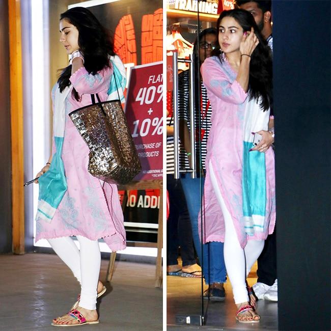 Sara Ali Khan snapped shopping at a store
