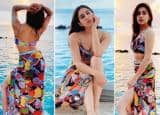 Sara Ali Khan in Multi Colour Bikini Flaunts Her Toned Figure While Soaking the Sun in Maldives