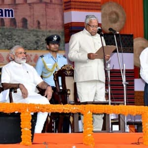 Sarbananda Sonowal sworn in as first BJP CM of Assam, see pics