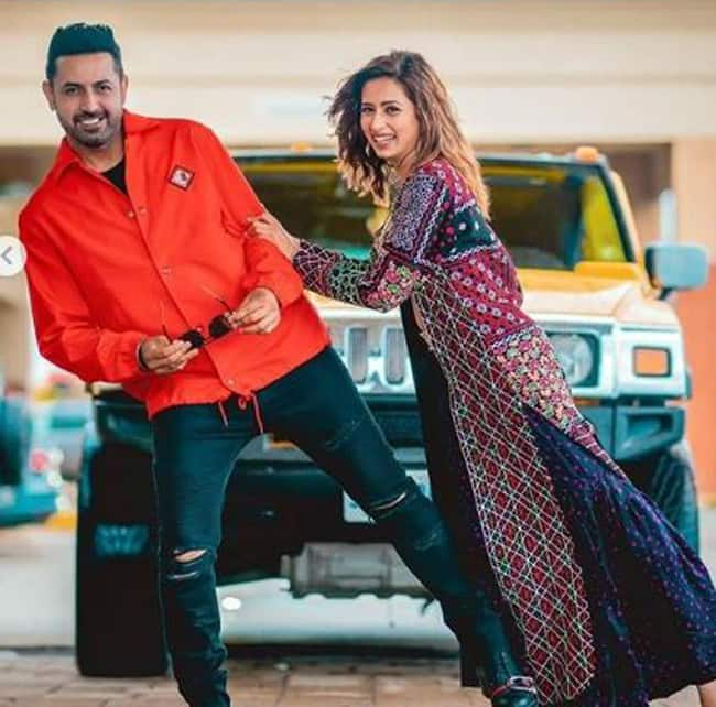 Sargun Mehta and Gippy Grewal Pose With Swag And it Will Light up Your Tuesday Morning