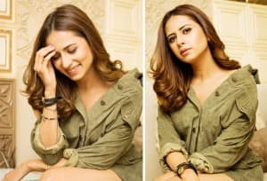 Sargun Mehta's 'Haye Garmi' Moment in Olive Green Attire is Worth Making Headlines, Check Out Diva's Hot Instagram Pictures
