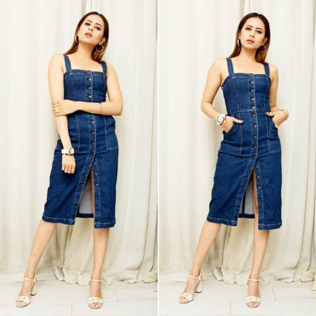 Sargun Mehta Looks Hot And Sexy in Denim Dress