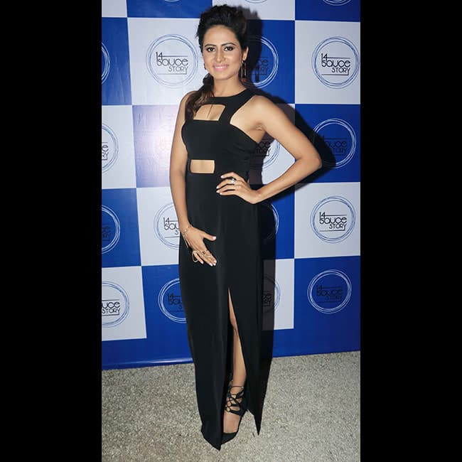 Sargun Mehta poses during her birthday bash