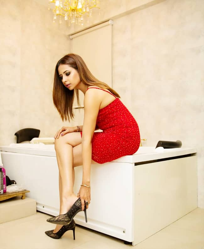 Sargun Mehta Sets The Temperature Soaring in Little Red Dress Look