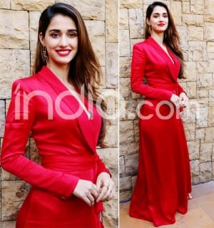 Disha Patani Adds Ooze to Oomph in Sexy Red Dress And Our Wednesday is Made | Check Pictures