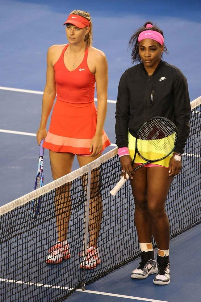 Serena Williams and Maria Sharapova clicked during Australian Open 2015 Women   s Singles Final