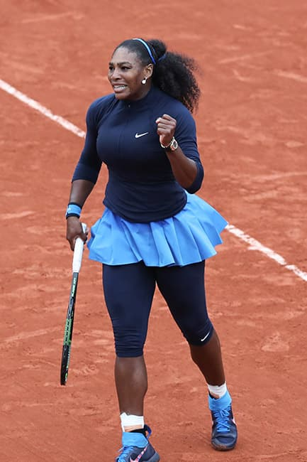 Serena Williams clicked during quarter final match of French Open 2016
