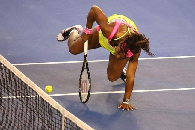 Serena Williams clicked while playing during Australian Open 2015 Women   s Singles Final