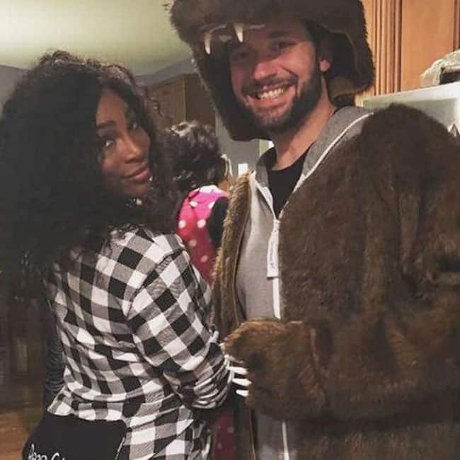 Serena Williams with Alexis Ohanian at a party