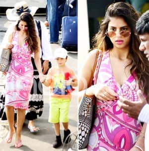 Suhana Khan Perks up Her Style in Pink as SRK's Family Leaves For Alibaug For New Year