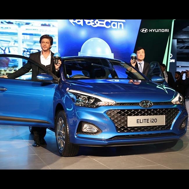 Shah Rukh Khan as the brand ambassador of Hyundai Motors at Auto Expo 2018