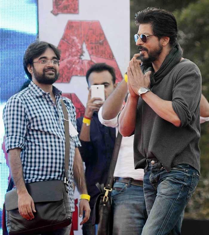 Shah Rukh Khan at Hans Raj college