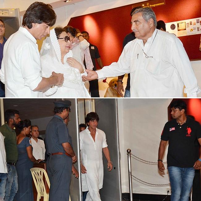 Shah Rukh Khan at Vinod Khanna   s prayer meet