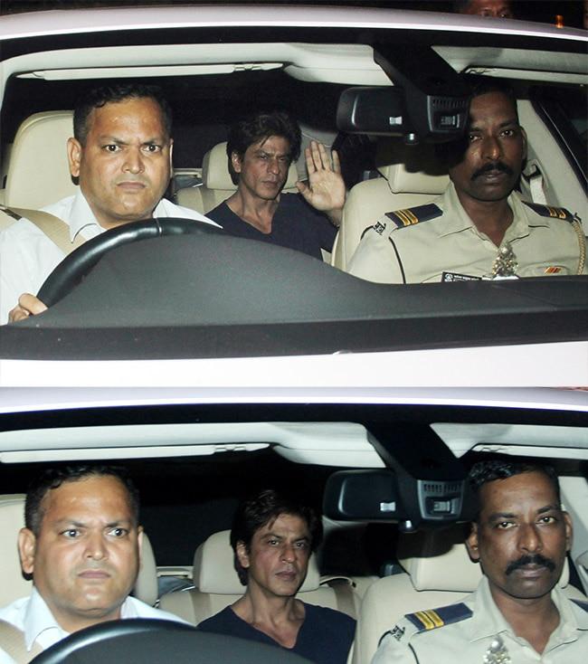 Shah Rukh Khan at Zoya Akhtar   s residence