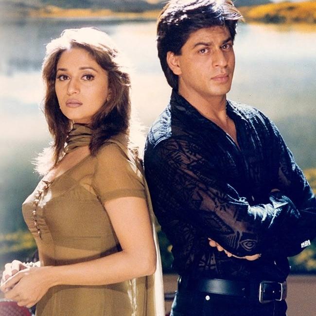 Shah Rukh Khan with Madhuri Dixit