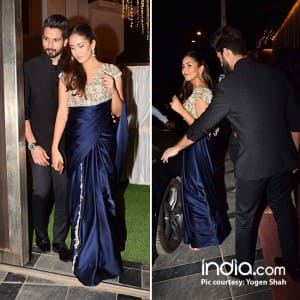 Shahid-Mira, Esha Deol, Dia Mirza attend Meri Aashiqui Tum Se Hi co-stars Gautam Gupta and Smriti Khanna's wedding reception