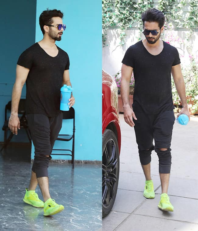 Shahid Kapoor outside his gym