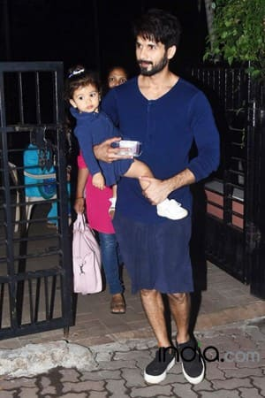 PICS: Shahid Kapoor twinning with daughter Misha, spends a playful evening at park