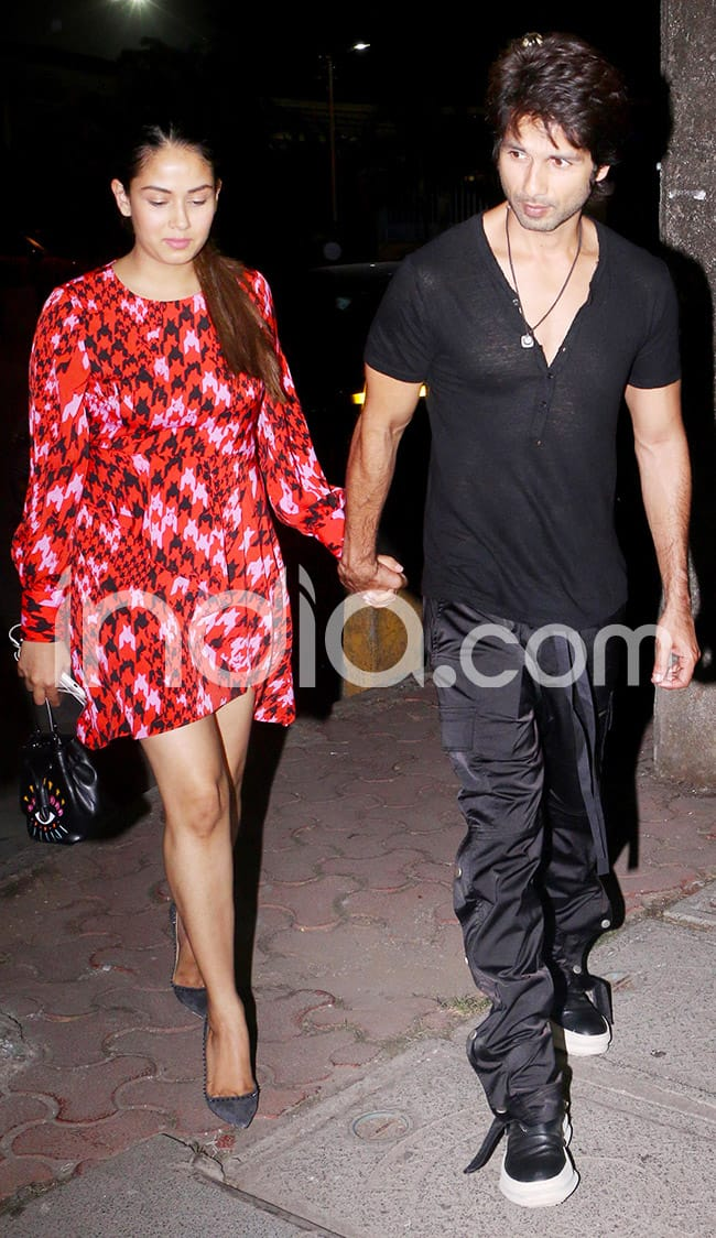 Shahid took Mira out on a romantic date