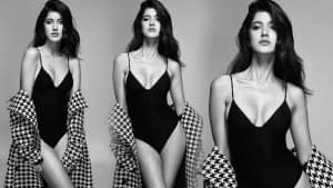 Shanaya Kapoor is Bollywood Ready in Her New Sultry Pictures, Wears a Black Swimsuit