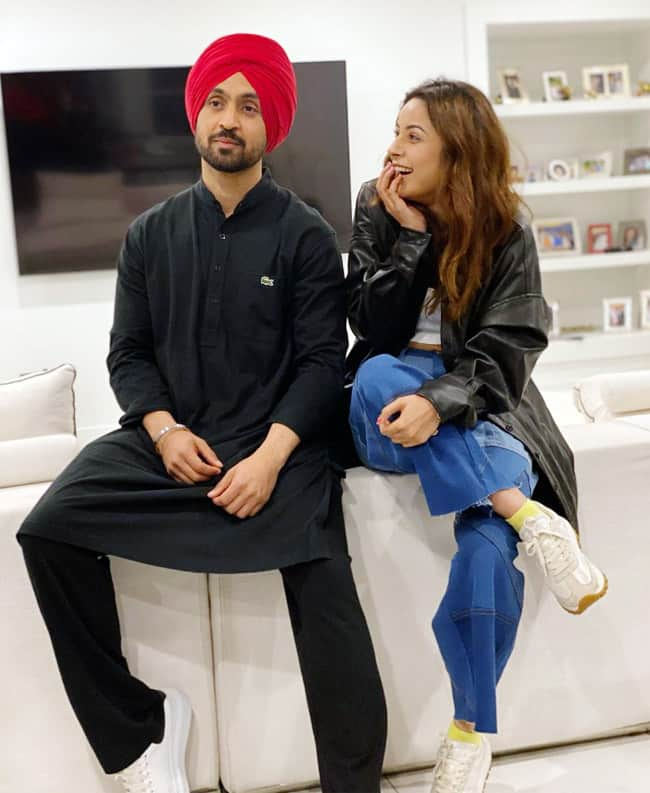 Shehnaaz Gill  Diljit Dosanjh party in Canada after wrap up