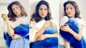 Shehnaaz Gill Looks Cute in Blue, Drops Stunning Images From New Photoshoot   See Pics