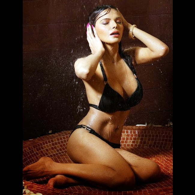 Sherlyn Chopra hot AF bikini shoot