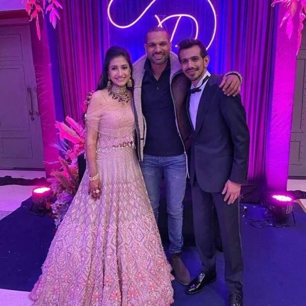 Shikhar Dhawan Attends Chahal Dhanashree s Wedding
