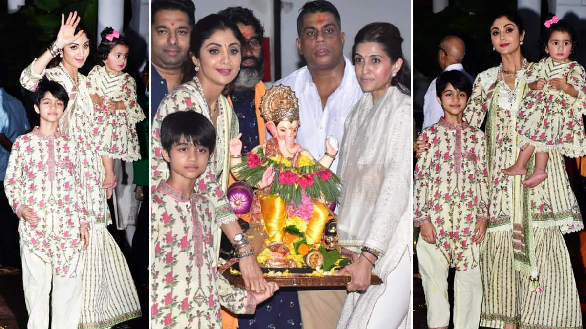 Shilpa Shetty Bid Goodbye To Lord Ganesha