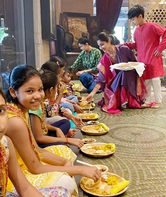 Shilpa Shetty Doing Kanya Pujan