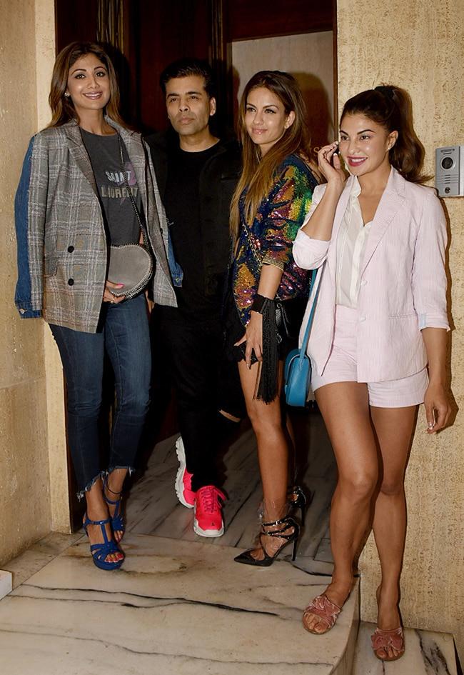 Shilpa Shetty  Karan Johar  Natasha Poonawalla and Jacqueline Fernandez spotted at Manish Malhotra   s party