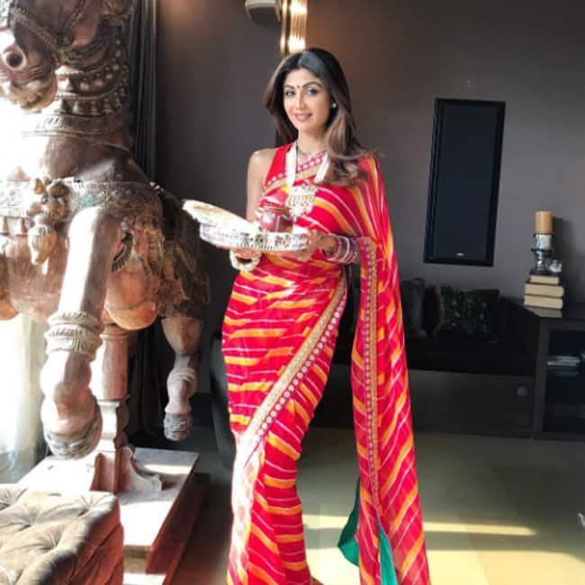 Shilpa  Shetty Kundra   s OOTD for Karva Chauth 2017