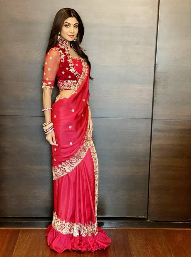 Happy Birthday Shilpa Shetty 10 Times Actor Stunned In A Saree With Most Fashionable Blouses Ever And boy, the woman sure knows how to pull a saree off. happy birthday shilpa shetty 10 times