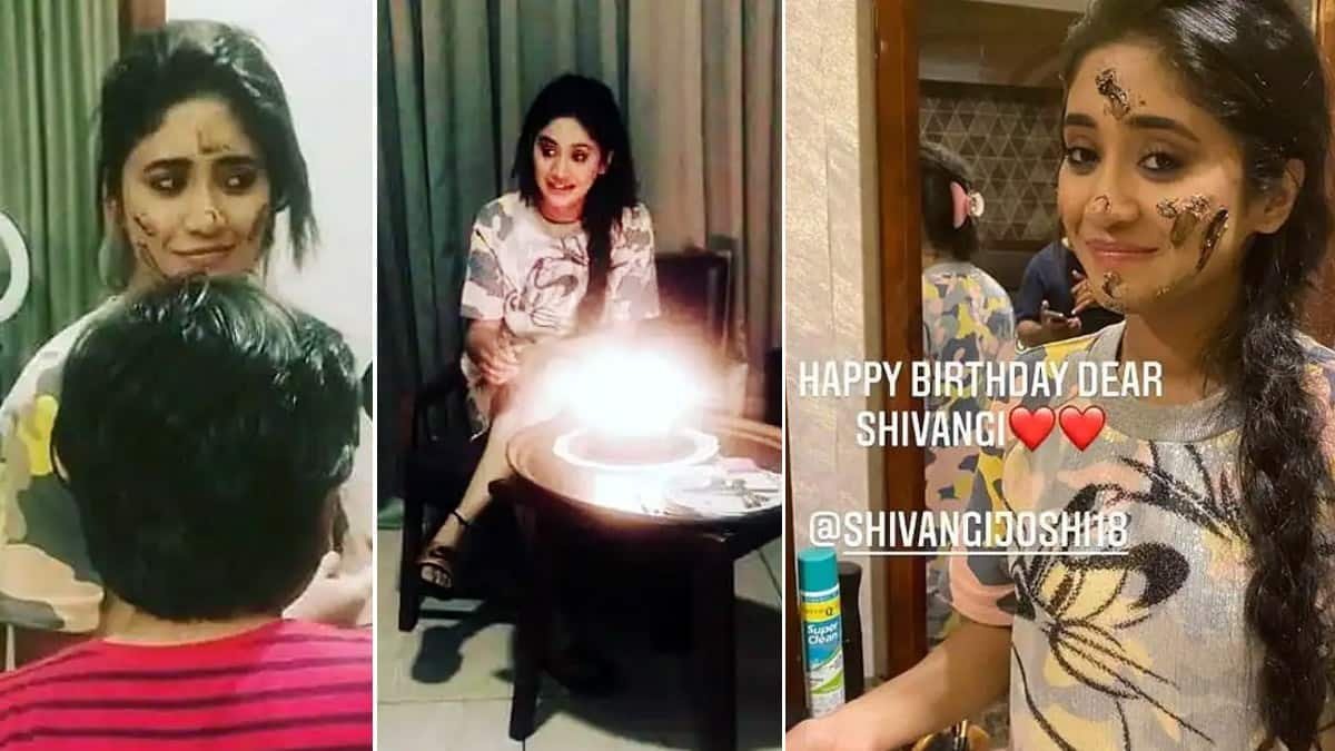 Shivangi Joshi celebrates her 26th birthday with Mohsin Khan