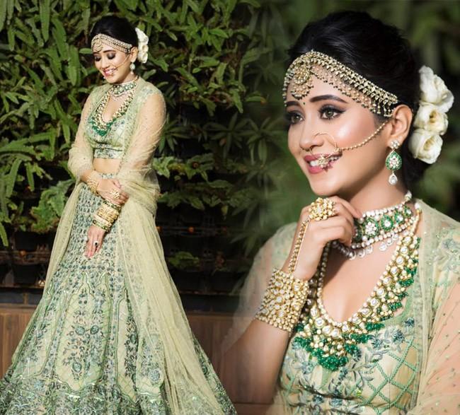 Shivangi Joshi's Green Lehenga Bridal Look: Naira Goenka From Yeh ...