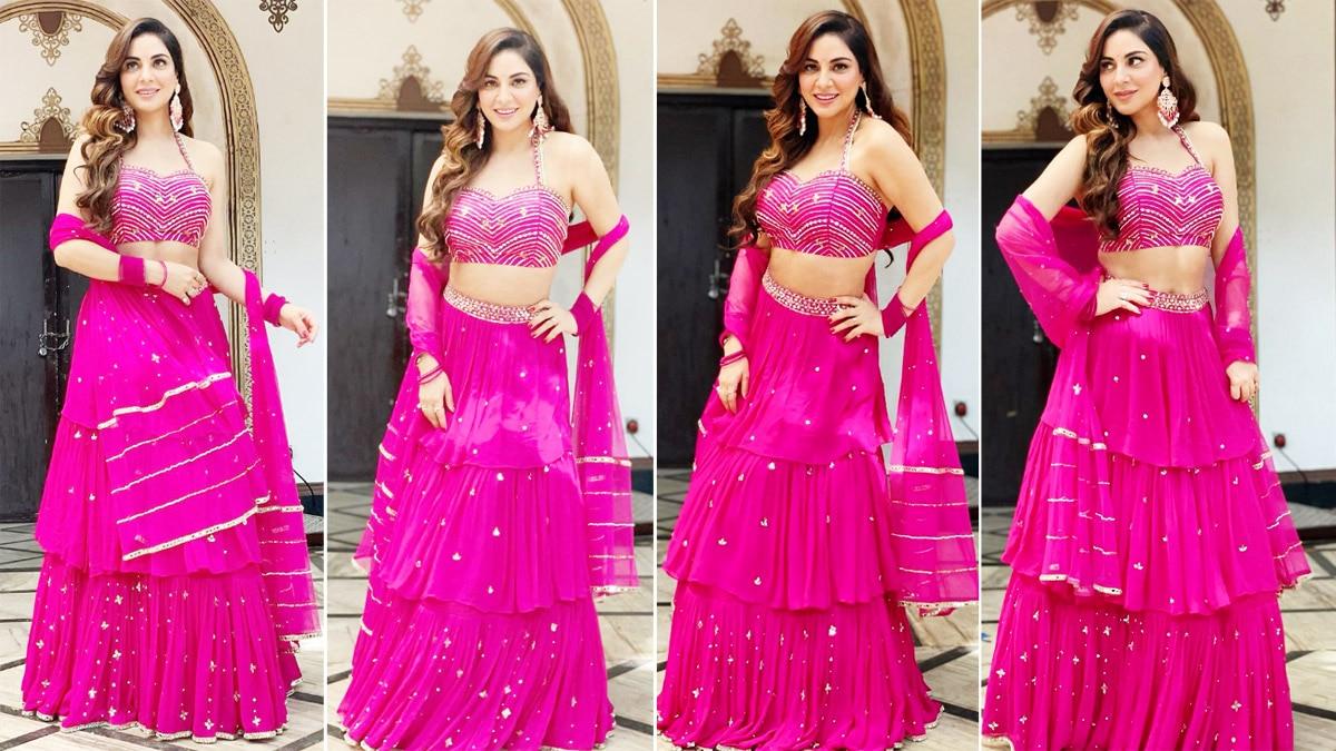 Shraddha Arya Looks Breathtakingly Gorgeous In Pink Lehenga