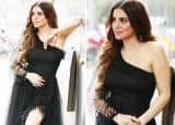 Shraddha Arya In One Side Shoulder Black Figure-Hugging Dress – See Hot And Sexy Pics