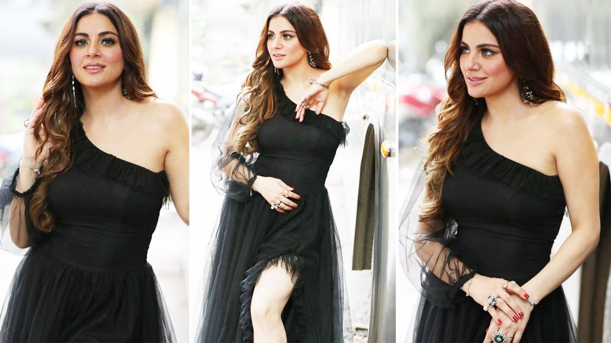 Shraddha Arya looks gorgeous in a hot black dress